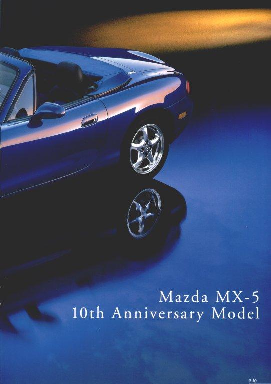 mazda mx 5 miata 10th anniversary model brochure swedish. Black Bedroom Furniture Sets. Home Design Ideas