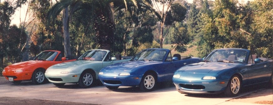 Mazda Miata Teal Metallic Paint