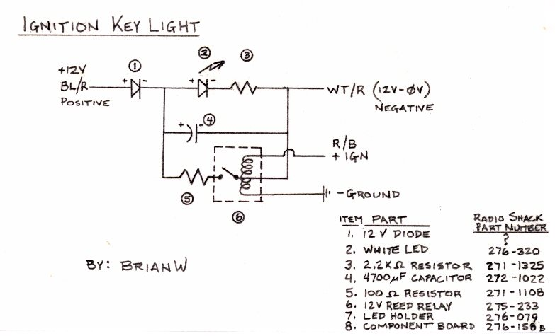 led diode wiring diagram led image wiring diagram ignition keyhole light on led diode wiring diagram